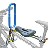 UrRider Child Bike Seat, Portable, Foldable & Ultralight Front Mount Baby Kids' Bicycle Carrier with Handrail for Mountain Bikes, Hybrid Bikes, Fitness Bikes