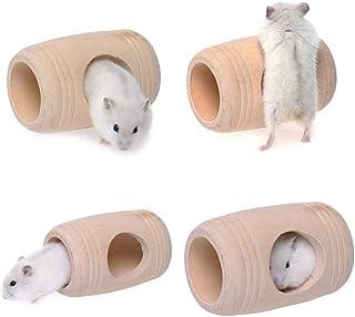 Yluck ペット おもちゃ ハムスター 巣 木製 小さなペット 小動物 住宅 面白い 自然感 運動不足解除 昼寝休憩用