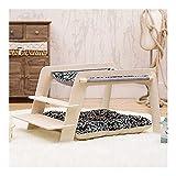 Lits pour chats Couverture pour hamac pour chat Petits lits pour chiens Canapé suspendu en bois pour chat avec tapis pour animaux de compagnie Meubles pour animaux pour chat chaton chiot (Couleur: B)