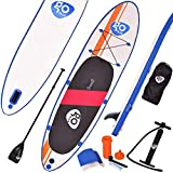 COSTWAY Stand Up Paddle Gonflable Paddle Board Planche de Surf Ensemble de Planche à Pagaie Charge Max 200 KG 300 x 76 x 15 cm