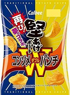 【販路限定品】カルビー 堅あげポテト コンソメWパンチ 83g×12袋