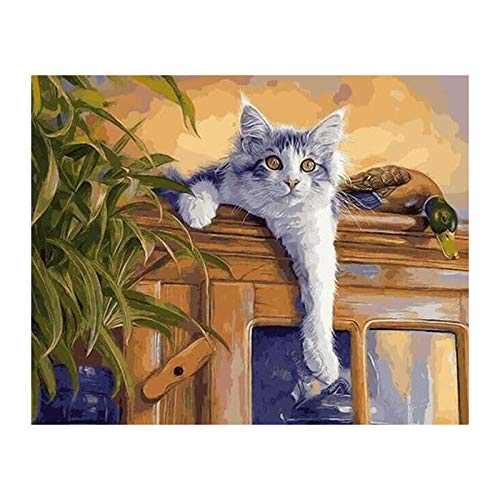 5D DIY Diamond Painting Diamond Embroidery 3D Diamond Painting Mosaic Pictures of Rhinestones Crafts Dodging Cat and Duck