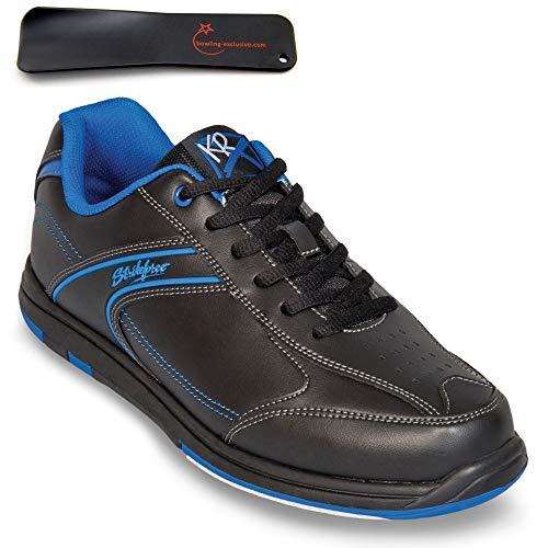 Herren Bowlingschuhe KR Strikeforce Flyer schwarz/mag blau inkl. Schuhanzieher (43.5 EU)