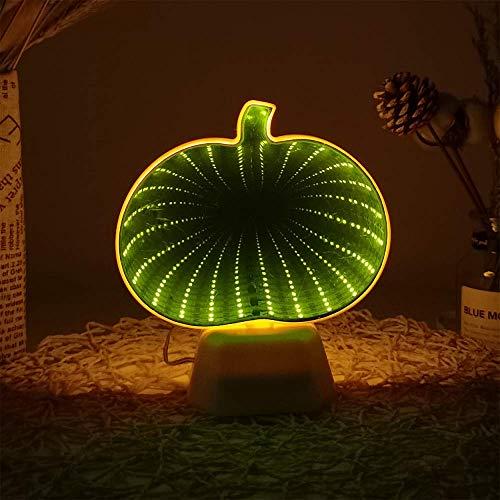 Kleine Nachtlicht AA Kürbis geformte LED unendliche Nachtlicht Tunnel Spiegel für zu Hause Schlafzimmer Dekoration
