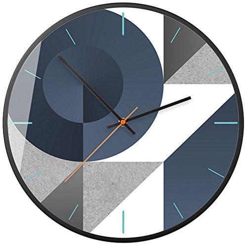 FGDJTYYJ Technologie Sinn Wanduhr Nordischer Stil Modern Wohnzimmer Dekoration Leise Wall Clock, 002