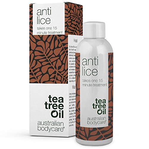 Australian Bodycare Anti Lice 100 ml | Lusbehandling mot löss, löss i håret och huvudlöss där verkar på 15 min. | Effektiv och giftfri behandling mot huvudlöss med naturlig Tea Tree Oil