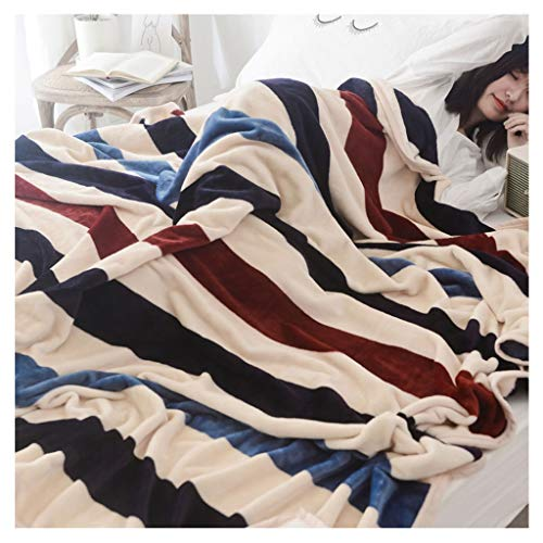 Couverture Faire Une Sieste for Augmenter Double Microfibre Douce Quilt Châle Portable 1,3 kg Little (Color : Stripes)