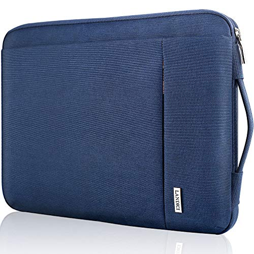 Landici 360 Protective Laptop Case Sleeve 14 15 15.6 Inch, Slim Computer Bag Cover Compatible with MacBook Pro 16, Surface Book 3 15, Chromebook 14, Acer Aspire 5, HP Pavilion,Lenovo Yoga-Blue