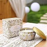 La Jolíe Muse Duftkerze Vanille Kokosnuss 100% Sojawachs Kerze in Dose 185g 45Std Geschenk Für Muttertag - 6