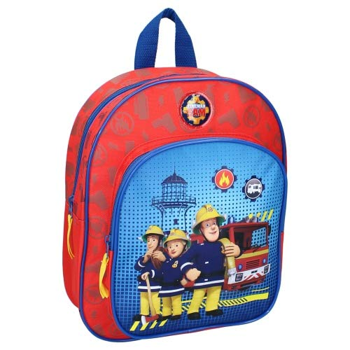 Boys Fireman Sam Deluxe Backpack with Front Pocket
