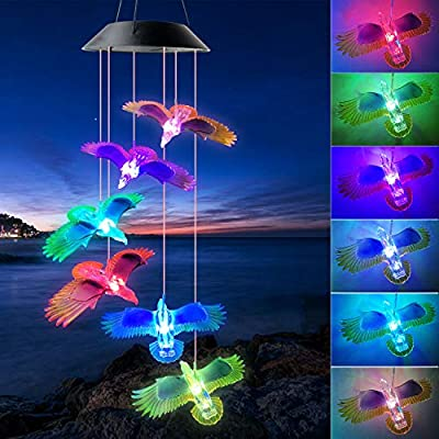 ShangTianFeng Black Eagle Solar Wind Chimes Outdoor Gardening Gifts for mom Unique Birthday Gifts for Women who has Everything Mother Gifts Gifts for Girlfriend Valentine Gifts for Wife