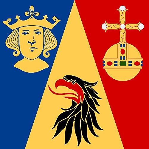 DIPLOMAT Flagge Stockholm | Fahne 0.06m² | 25x25cm für Flags Autofahnen