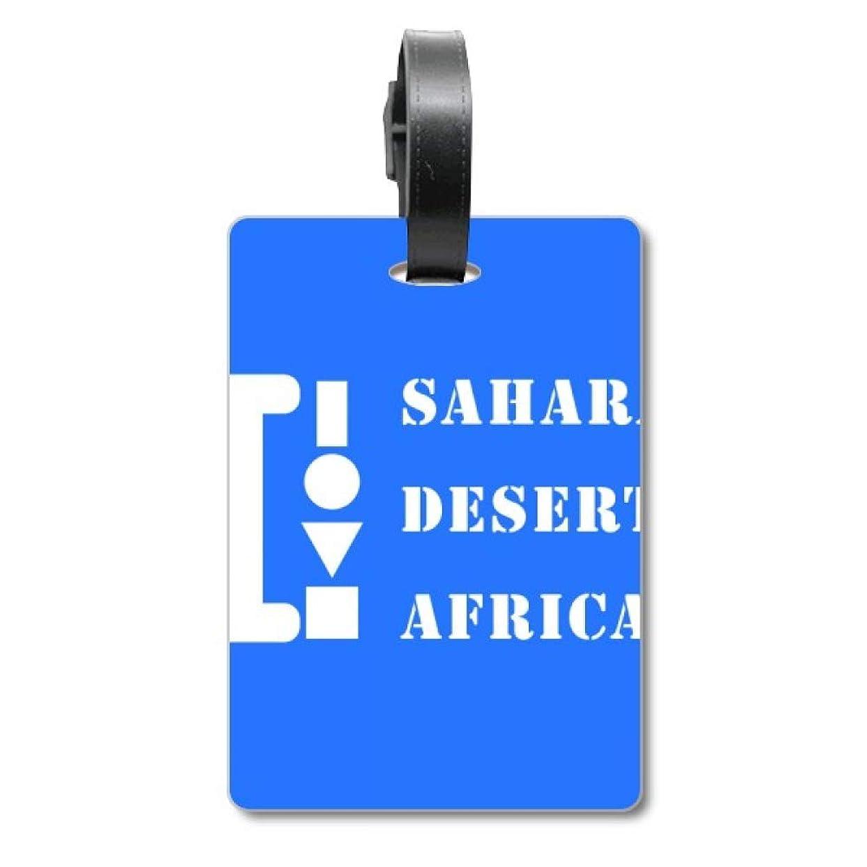 件名暖かさ避けるサハラ砂漠アフリカ 旅行カバンのタグ旅行者の識別標識