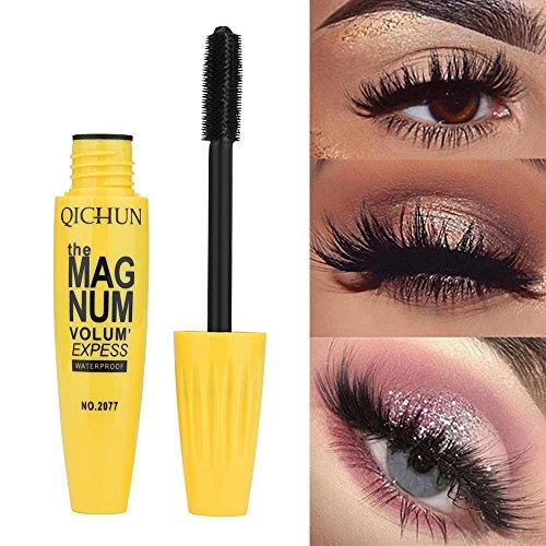 Dinglong Mascara couleur Nouveau long curling maquillage cils multicolore imperméable à l'eau Mascara Eye cils (Jaune)