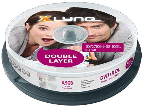 xlyne DVD+R DL 8.5GB 10 Pack - DVD+RW vírgenes (8,5 GB, DVD+R Dual Layer, Caja para Pastel)