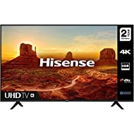 HISENSE 50A7100FTUK 50-inch 4K UHD HDR Smart TV with Freeview play, and Alexa Built-in (2020 series)...