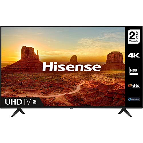 HISENSE 50A7100FTUK 50-inch 4K UHD HDR Smart TV with Freeview play, and Alexa Built-in (2020...