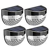 Litom Solar Fence Lights, Decorative Lights LED Garden Lights, Waterproof Solar Lights Wireless Outdoor Lights for Garden, Fence, Patio(4 Pack)
