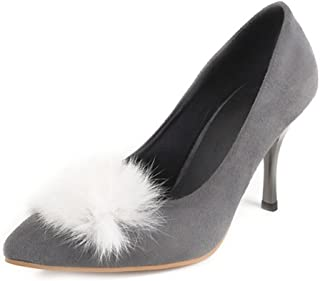 Smilice Women Fashion Heels Slip-on Pointed Court Shoes