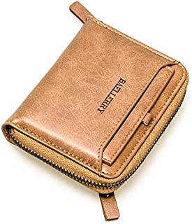 Baellerry Yellow Leather For Men - Bifold Wallets - 2724612241689