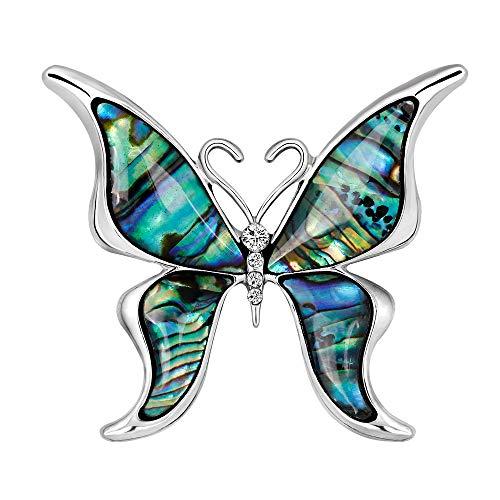 YAZILIND mar Concha Broche Mariposa Forma Rhinestone aleación Collar Pins Animales Ramillete joyería para Mujeres