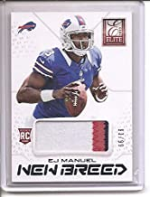 E.J. Manuel Buffalo Bills Kansas City Chiefs 2013 Panini Elite 3-Color Jumbo Jersey Memorabilia Football Card #93/99
