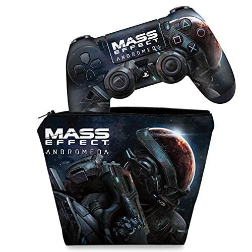 Capa Case e Skin Adesivo PS4 Controle - Mass Effect: Andromeda