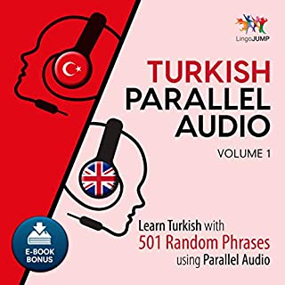 Turkish Parallel Audio - Learn Turkish with 501 Random Phrases using Parallel Audio - Volume 1 cover art