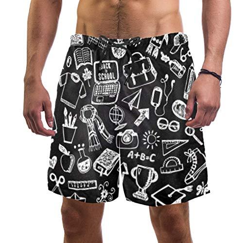 Anmarco School Collection - Traje de baño de secado rápido para hombre con bolsillo