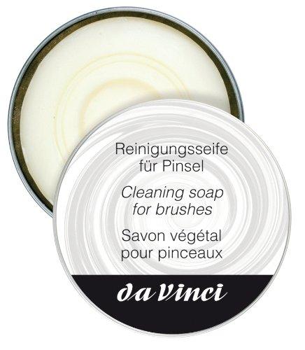 Da Vinci 4433 - Jabón de limpieza para cepillos, cerdas blancas, negro, 30 x 30 x 30 cm