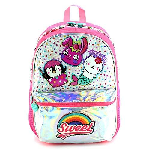 ghn Gran capacidad suave bolsas de compras morral mujer China moda holográfica brillo lentejuelas lindo niños mochila para niñas niñas lindo escuela bolsa de la escuela bolsa de las mujeres