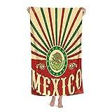 De Gran Tamaño Microfibra Ultra Suave Toalla de Baño Manta Secado Rápido,Decoración navideña Mexicana patriótica Vintage de México,Toalla de Playa Hoja de Viaje Piscina Cámping Deportes,32' x 52'
