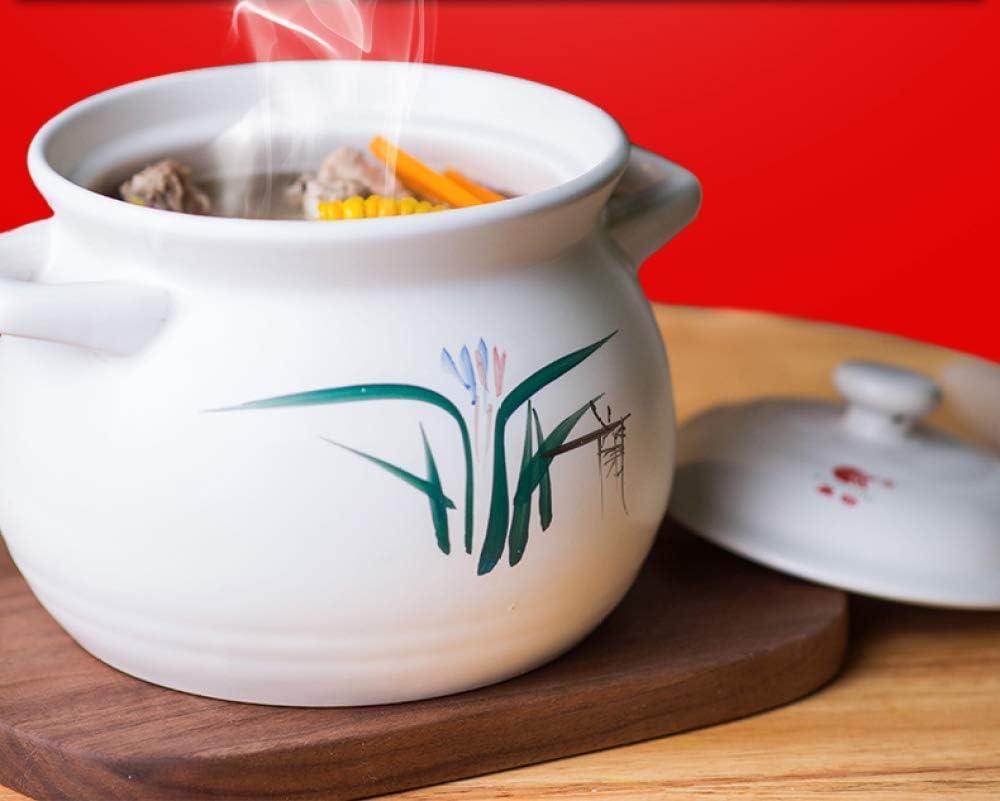 WEIZI Plat de Cuisson Classique en grès pour poêle à Frire Bibimbap et Soupe - Batterie de Cuisine Incroyable en céramique de qualité supérieure 2,8 L 1.6l