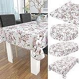 ANRO Wachstuch Tischdecke abwaschbar Wachstuchtischdecke Wachstischdecke Sakura Vogel 100x140cm - 4