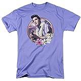 Elvis Presley Luau King Unisex Adult T Shirt for Men and Women, X-Large Lavendar
