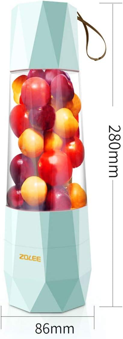Bospyaf Mini Exprimidor Eléctrico Multifuncional para El Hogar Exprimidor Portátil Que Carga Una Pequeña Taza De Jugo para Freír,Azul White