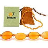 True Baltic Necklaces Gift Set (Unisex – Raw Honey - 12.5 Inches), 100% Natural Baltic Necklace with Highest Quality