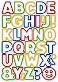Tescoma 630925 Delicia Kids Tagliabiscotti Alfabeto, 34 Pezzi, Multicolore, pz