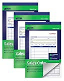 """3-PACK/50 Sets (150 Total Sets): Three 5-7/16 x 8-7/16"""" Sales Order Books with two-part forms which produce two identical records of each sales transaction, one for the customer and one for your business CARBONLESS COPY: No carbon paper! Each 2-part ..."""