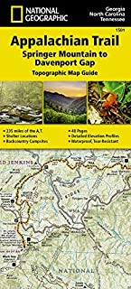 Appalachian Trail, Springer Mountain to Davenport Gap [Georgia, North Carolina, Tennessee] (National Geographic Trails Illustrated Map) by National Geographic Maps - Trails Illustrated (2015-09-25)