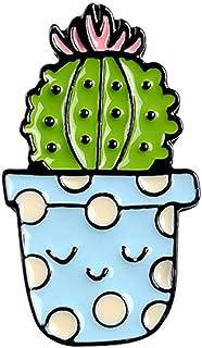 Ruby569y Broche de esmalte de dibujos animados, lindo cactus suculentas, alfiler unisex de joyería, regalo para solapa, in...