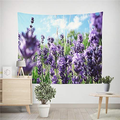 Tapiz de flores de lavanda decoración de impresión estilo mandala tapiz para colgar en la pared familiar toalla de playa tela de fondo a9 73x95cm