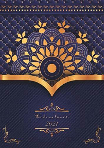 Wochenplaner 2021 « Lila Mandala »: Wochenplaner Taschenkalender 2021 | orientalisches Muster | Kleinformat A5 | Um alle Ihre Termine und Aufgaben von Januar bis Dezember 2021 zu notieren | 124 Seiten
