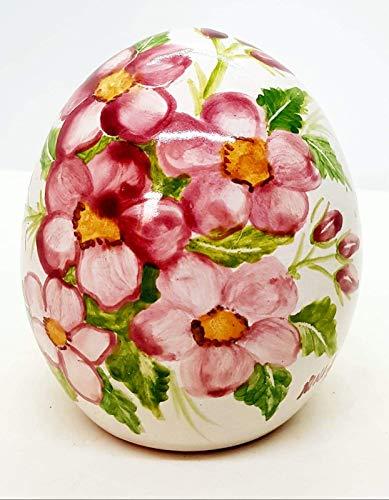 uova di pasqua ceramica Uovo Ceramica Fiori di Pesco Handmade Le Ceramiche del Castello Idea Pasqua Idea Bomboniera Made in Italy Dimensioni h 13 x 10 centimetri