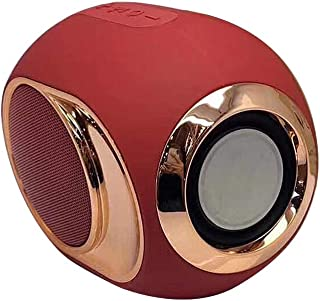 Docooler Portable Wireless Mini BT Dual Speaker Player Stereo Bass Soundbox Subwoof Soundbar Audio Players Micro TF Card Support with FM Function (Red)