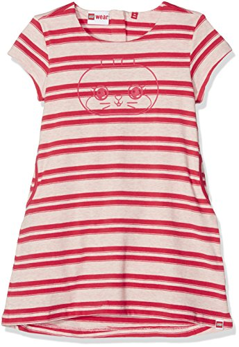 Lego Wear Lego Duplo Girl Diana 303-JERSEY Kleid Ensemble, Rot (Rot (Coral Red 315) 315), 24 Mois Bébé Fille