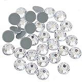 Círculos Hotfix de cristal transparente, diamantes de imitación de fijación caliente para manualidades, ropa, gemas de vidrio planas para disfraces de baile