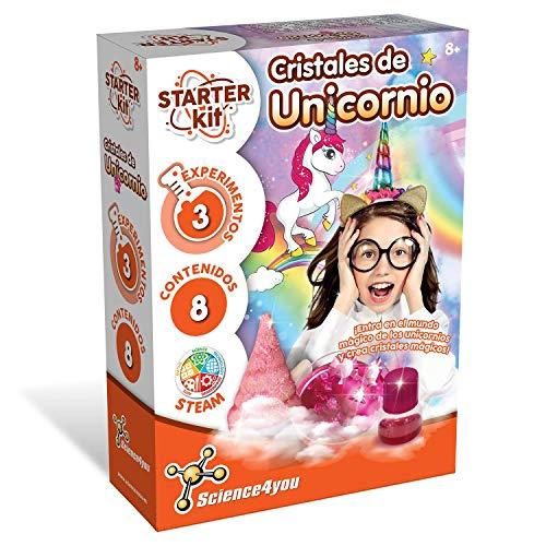 Science4you-Science4you-Starter Kit Cristales de Unicornio – Juguete Científico y Educativo, Multicolor, 8 Años (80002587)