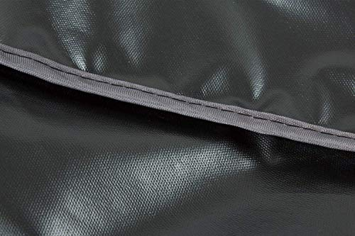 HENTEX Schutzhülle Cover Eckbank für Gartenmöbel Abdeckung L-Form, Grau, 255x255x100x70H cm - 9