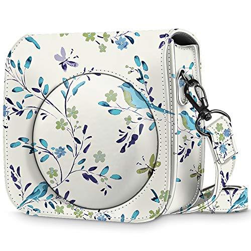 Fintie Tasche für Fujifilm Instax Mini 8 / Mini 9 Sofortbildkamera - Premium Schutzhülle Reise Kameratasche Hülle Abdeckung mit abnehmbaren Riemen, Das Blaue Rothkehlchen
